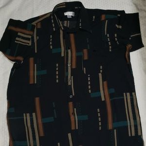 Mens dress or casual button down collared shirt